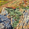 "Westward Ho, oil on canvas, 6"" x 24"" NEW"
