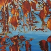"""Fall Leaves II, oil on canvas, 9"""" x 9"""" (SOLD)"""