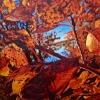 "Porthole, oil on canvas, 48"" x 48"""