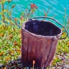 """Kanata Paintbrush, oil on board, 8"""" x 8"""" (SOLD)"""